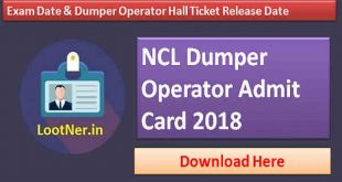 Download NCL admit card 2018-2019